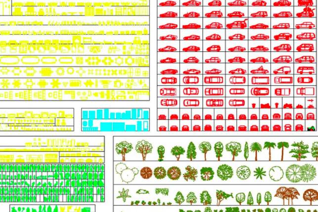 دانلود پروژه آماده اتوکد طرح دو بعدی بلوک شهری، درخت، گیاه، ماشین، ساختمان، خیابان