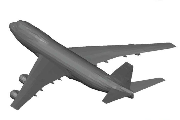 دانلود پروژه آماده اتوکد طرح سه بعدی اتوکد هواپیما بوئینگ Airplane Boeing 747