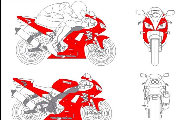 دانلود پروژه آماده اتوکد طرح دو بعدی موتور یاماها