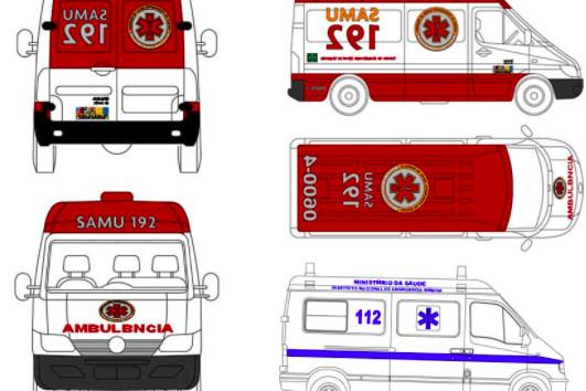 دانلود پروژه آماده اتوکد طرح دو بعدی ماشین آمبولانس ۳ مدل