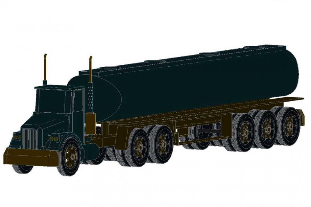دانلود پروژه آماده اتوکد طرح سه بعدی کامیون