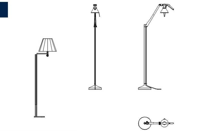 دانلود پروژه آماده اتوکد طرح دو بعدی مجموعه چراغ پایه دار