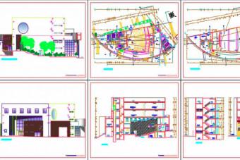 دانلود پروژه آماده طرح سه بعدی اتوکد سالن اجتماعات