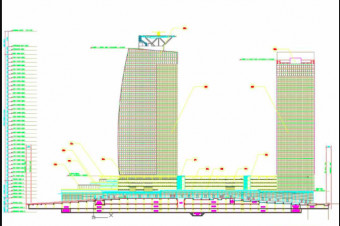 دانلود پروژه آماده طرح سه بعدی اتوکد برج بلند یا آسمان خراش