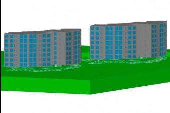 دانلود پروژه آماده طرح سه بعدی اتوکد ساختمان و مجتمع اداری
