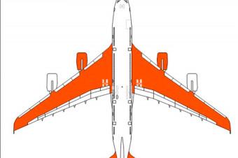 دانلود پروژه آماده اتوکد طرح دو بعدی اتوکد هواپیما ایرباس Airbus 380