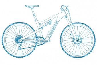 دانلود پروژه آماده اتوکد طرح دو بعدی اتوکد دوچرخه کوهستان