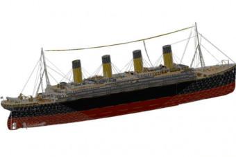دانلود پروژه آماده اتوکد طرح سه بعدی اتوکد کشتی تایتانیک