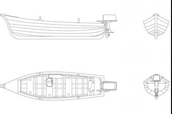 دانلود پروژه آماده اتوکد طرح دو بعدی اتوکد قایق چوبی
