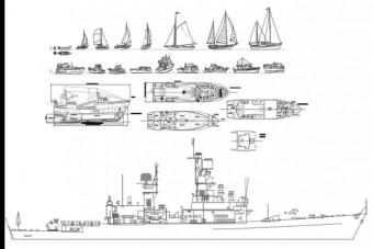 دانلود پروژه آماده اتوکد طرح دو بعدی مجموعه قایق و کشتی