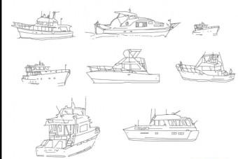 دانلود پروژه آماده اتوکد طرح دو بعدی قایق بادبانی