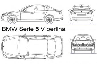 دانلود پروژه آماده اتوکد طرح دو بعدی ماشین بی ام و سری BMW serie 5