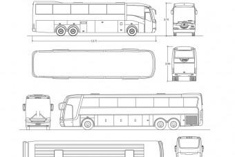 دانلود پروژه آماده اتوکد طرح دو بعدی اتوبوس