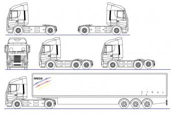 دانلود پروژه آماده اتوکد طرح دو بعدی کامیون
