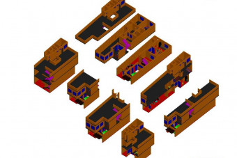 دانلود پروژه آماده اتوکد طرح سه بعدی خانه ویلایی