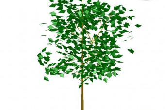 دانلود پروژه آماده اتوکد طرح سه بعدی درخت