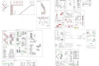 دانلود پروژه آماده اتوکد طرح دو بعدی راه پله
