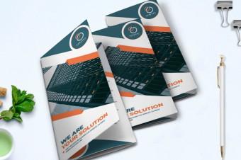 طرح لایه باز بروشور سه لت Trifold Business Brochure