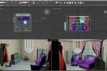 مدل سه بعدی اتاق نشیمن 3D Max
